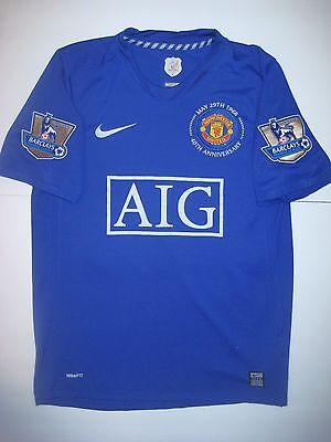Nike Blue 40Th Third Manchester United Cristiano Ronaldo Jersey Medium Large