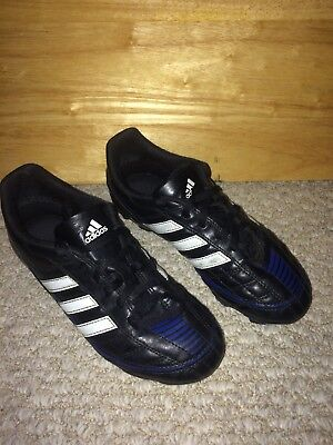 promo code 5da37 72d82 Adidas Puntero Soccer Cleats, Boys Youth Size 3.5, Shoes Black White Blue