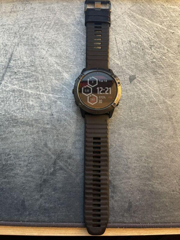 Garmin 010-02157-10 Fēnix 6X Sapphire Smartwatch - Black