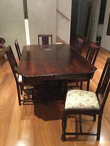 Matching Table, six chairs and sideboard Maribyrnong Maribyrnong Area Preview