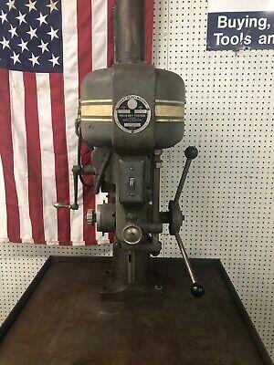 Walker Turner Heavy Duty Drill Press And Kennedy Type Cabinet