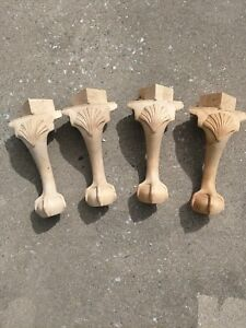 Hardwood Ball And Claw Furniture Feet Foot Legs Unfinished