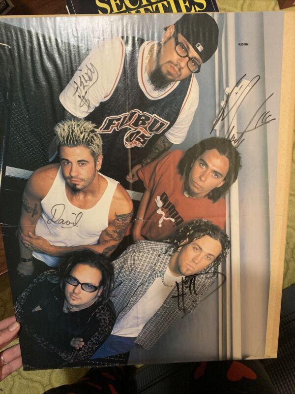KoRn signed autographed Poster