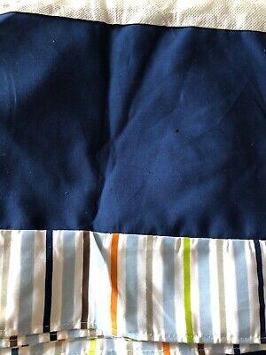 Tiddliwinks Crib Dust Ruffle Crib Skirt Baby Boys Nursery Bedding Blue Stripe Crib Bedding Dust Ruffle