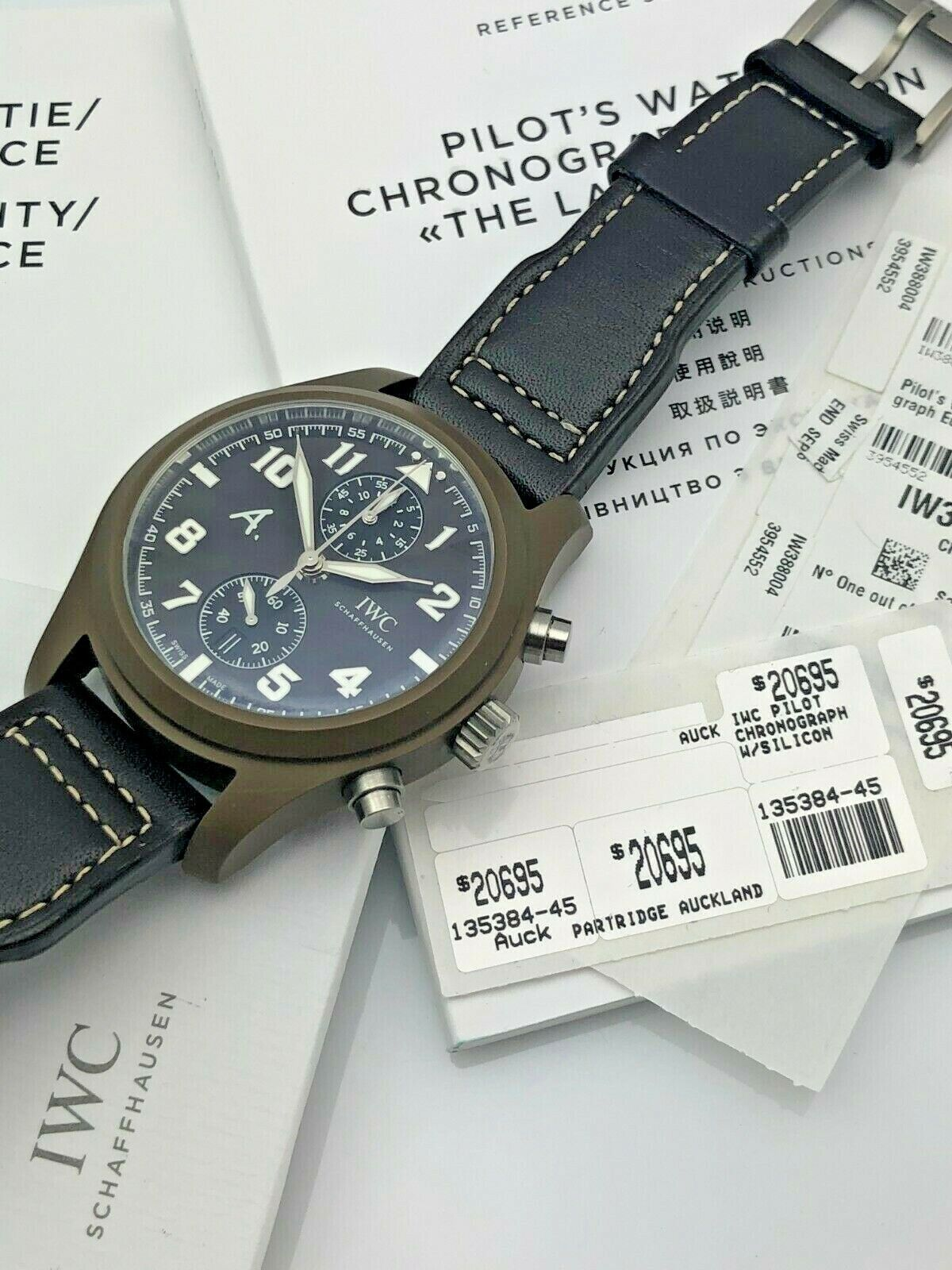 IWC 2000s The Last Flight Chronograph Brown 46mm Ceramic IW388004 w/ Open Papers - watch picture 1