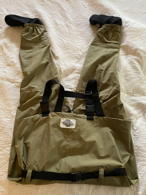 White River Fly Shop Fishing Waders Chest High Stocking Foot Men