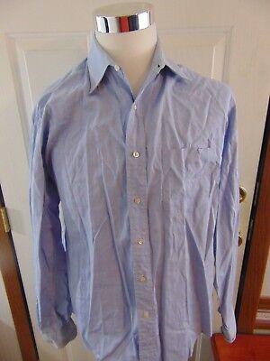 BROOKS BROTHERS Makers Blue Oxford 100% Cotton Dress Shirt 16 x 36