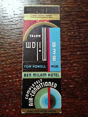 Vintage Matchcover: Ben MIlam Hotel, Houston, TX E