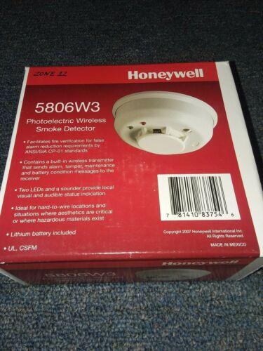 *NEW* Honeywell 5806W3 Photoelectric Wireless Smoke Detector