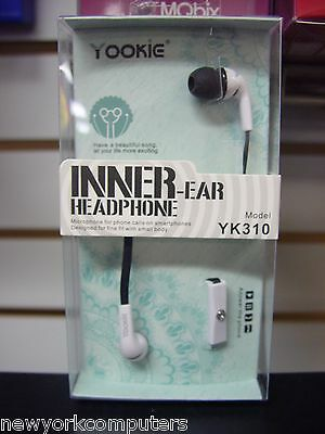 - YOOKIE Inner-ear Headphone YK310 WHITE
