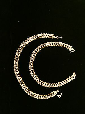 Indian Wedding Anklet Jewelry Goldtone-USA Seller