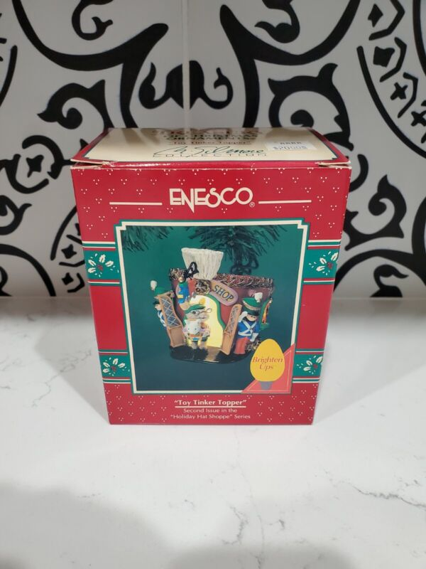 Enesco NEW NOS Toy Tinker Topper Treasury of Christmas Ornament Mice Holiday Hat