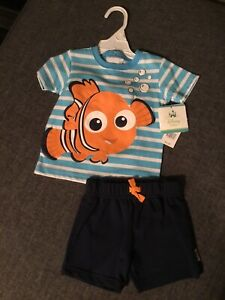 Disney Baby Nemo shirt and shorts 6 months ( New with tag)