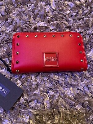 Versace Jeans Couture Red Stud Logo Purse /wallet Women's