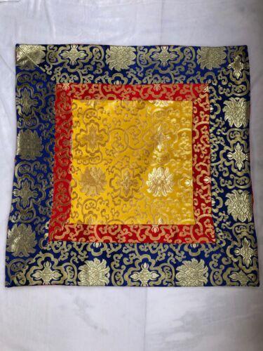 Tibetan buddhist lotus design silk brocade table cloth/shrine cover /table cloth