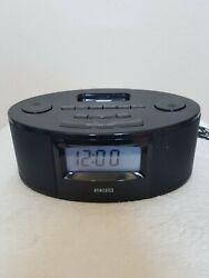 Homedics Black Alarm, FM Radio, ipod Player, Snooze Nap Big Numbers Display