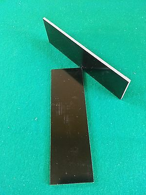 "2 PCS OF .125"" BLACK G-10 - KNIFE HANDLE MATERIAL BLANK SCALES G10 1.75"" x 5.75"" for sale  Wheeling"