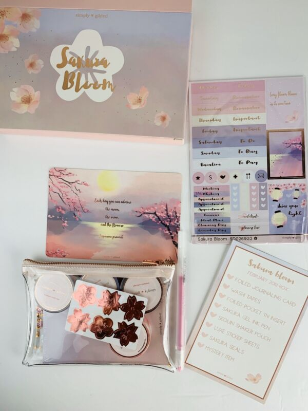 NEW Simply Gilded Sakura Bloom Sub Washi Box