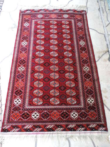 4x7ft. Authentic Tekke Bokharra Wool Rug