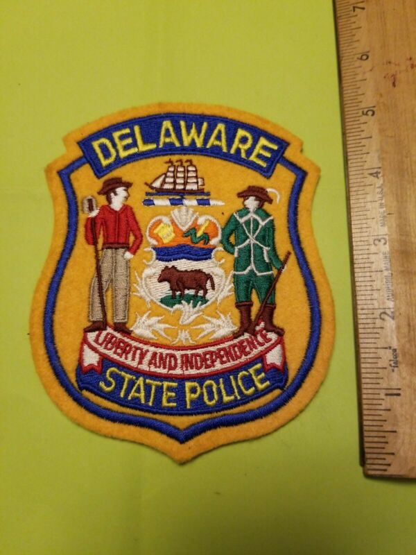 Obsolete Delaware State Police  Felt Cheesecloth