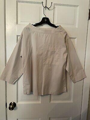 MHL Margaret Howell light putty long sleeve cotton smock tunic sz. M