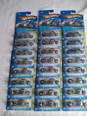 LOT OF 24 - HOT WHEELS Airy 8 Realistix Motorcycles 4/20 First Edition 2005