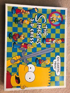 Simpson's 3D Chess board game