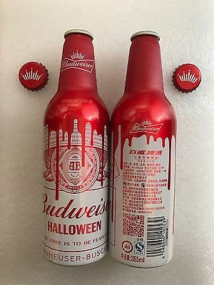 "2016 China Budweiser Beer ""Halloween"" 355ml Empty Aluminum Bottle"