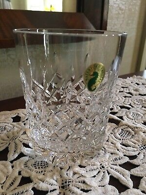 *** NEW w/ TAGS WATERFORD LISMORE CRYSTAL Glasses Double Old Fashioned Glassware