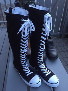 KNEE HIGH CONVERSE CHUCK STYLE AIR WALK BOOTS RUNNERS