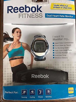 Reebok Fitness Dual Heart Rate Monitor. Brand New. RB1173BL