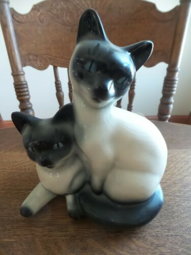 Royal Copley Siamese Kittens Planter Rare! Cat Figurine