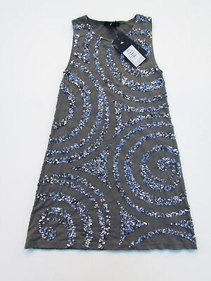 Flowers by Zoe Large Girls NWT Dark Grey Sequin Special Occasion Dress KK1