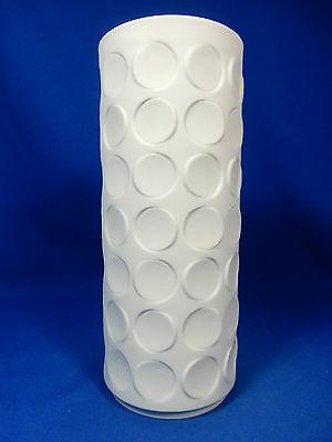 Cylindrical 70´s Pop Art Design Winterling Relief Bisquit  Porzellan Vase  23 cm