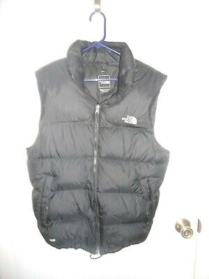 The North Face  Insulated Puffer Vest Jacket Black Size Large 700 Down