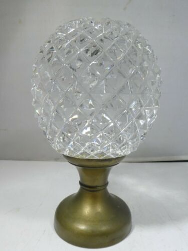 ANTIQUE  BACCARAT GLASS FACETED  NEWEL POST FINIAL
