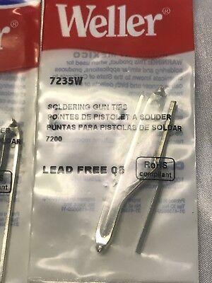 Weller 7235w Standard Soldering Gun Replacement Tips 2per Pack For Model 7200