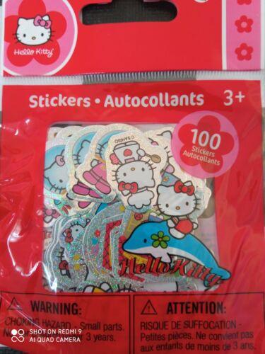 Hello Kitty 100 small stickers  -  NIP