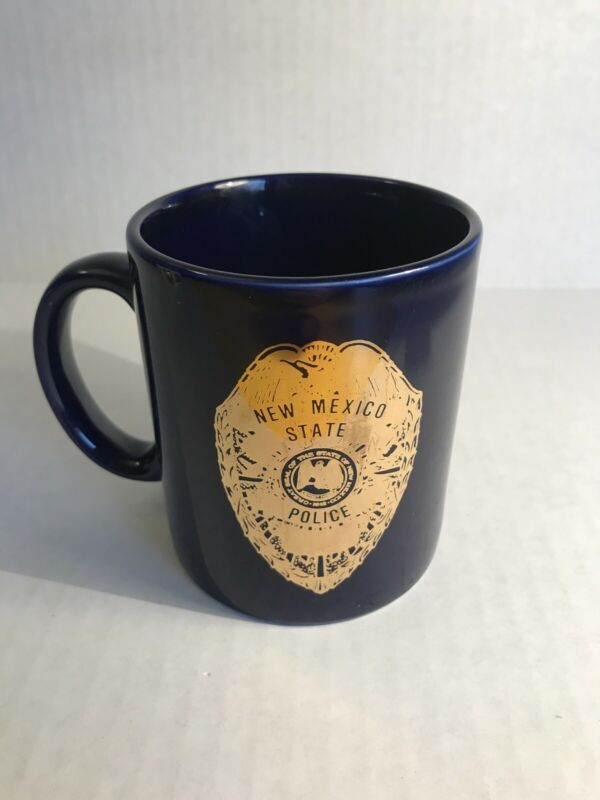 New Mexico 1989 State Police Care Coffee Tea Mug Used Accident reduction used