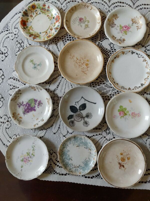 Lot Of 12 Butter Pat Dishes