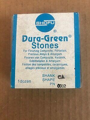 Shofu Dura Green Stones 0002 Ca New Dozen