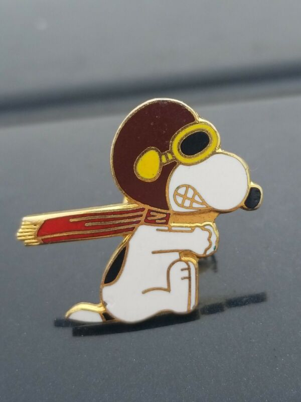Vintage SNOOPY Flying Ace Red Baron Enamel Pin