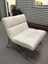 White leather chair Keilor Park Brimbank Area Preview