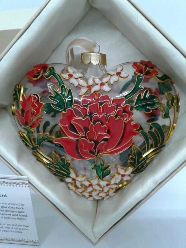 Pier 1 Imports ~ Cloisonne Ornament ~ Heart Shape ~ NIB