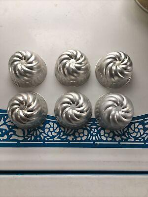 Six Vintage Aluminum Jello Molds