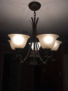 Chandelier with glass shades