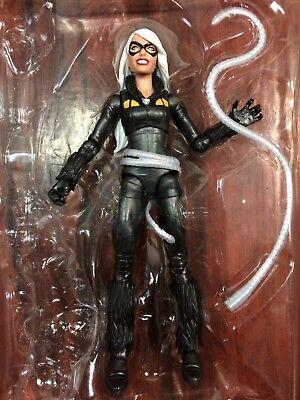 IN STOCK Marvel Legends Spider-Man Black Cat Loose *No Kingpin BAF](Black Spider Man)