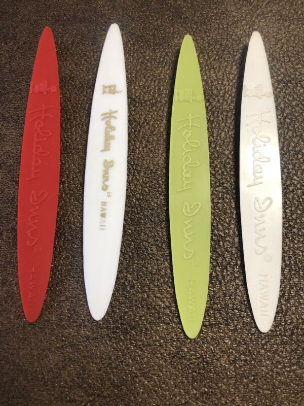 Vintage Holiday Inn Hawaii Surfboard Swizzle Sticks Lot Of 4
