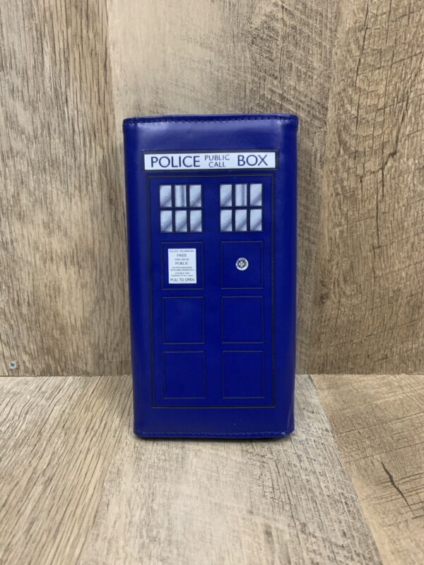 Doctor Who Tardis Police Public Call Box Snap Wallet Purse Clutch BBC Women