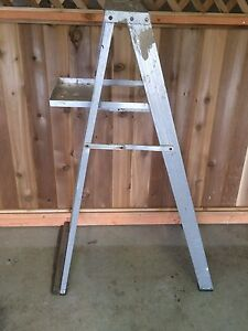 Ladder w/ Painting Tray 225 lb Load 5 ft